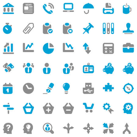 icon set for office and business Illustration