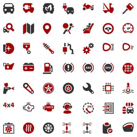 Set de iconos para la industria del automóvil y tranporte Foto de archivo - 26068533