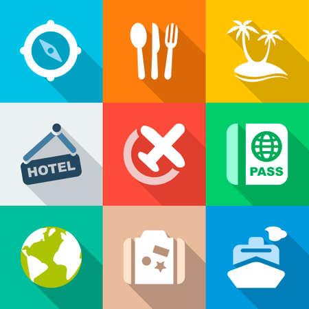 business travel: bunten Icons reisen Hintergr�nde f�r Business, Reise und Urlaub