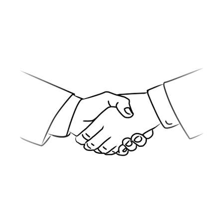 business people shaking hands: black icon handshake. background for business and finance