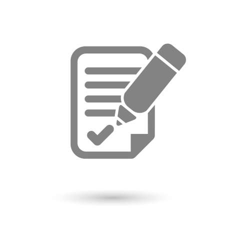 flat agreement icon with shadow. for business  office