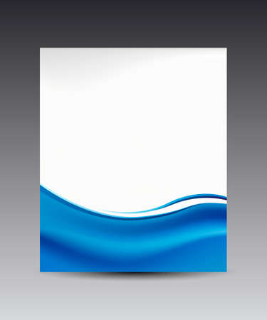 blue print: blue waves banner background, for web & business