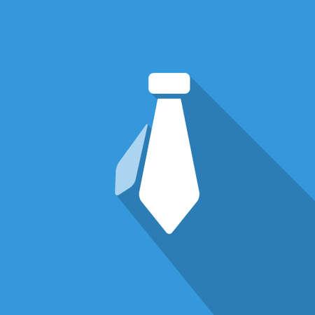 blau wei�: icon Flach Krawatte, isoliert, schattiert, blue & white Farben