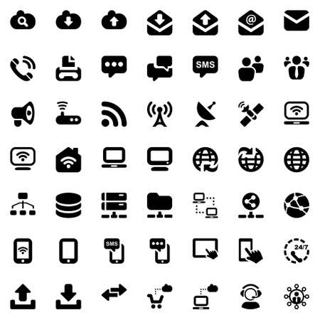 media  communication iconset black