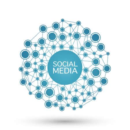 Achtergrond met een netwerkstructuur. sociale media concept Stock Illustratie