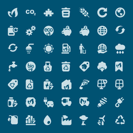 recycling symbols: set of icons for ecology and environmental industry
