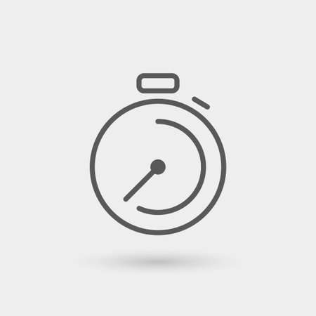 fast icon, thin line, black color with shadow