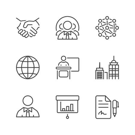 icons set: business icons set