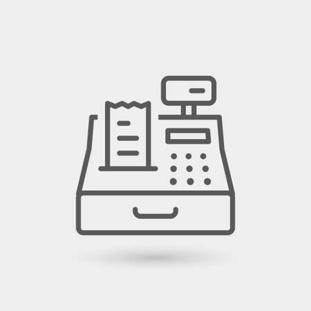 cash register icon isolated. gray color with shadow Zdjęcie Seryjne - 63103448