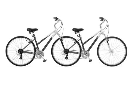 Bicycle a tandem for driving together