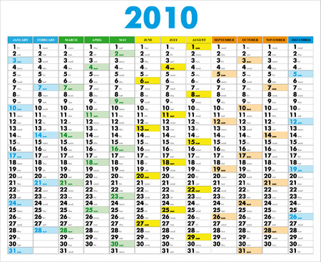 calender design: Vector Calendar for 2010 with graphic elements