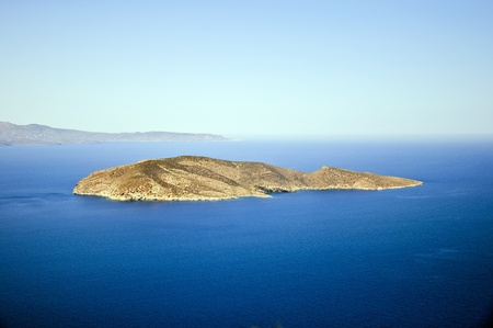 panoramic view of the island in the sea, the island of Crete, Greece