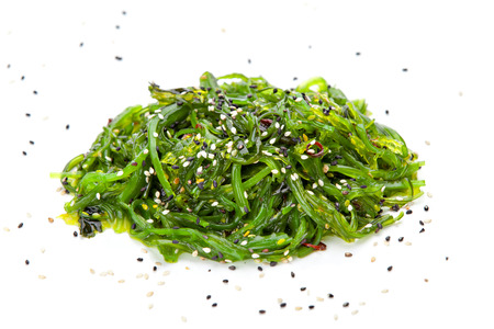 Chuka seaweed salad garnished with sesame seeds