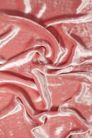 sexual abstract: luxurious and soft waves of light pink velvet background Stock Photo