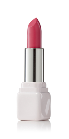 chap sticks: Lipstick on white background. Fashionable colorsof the season