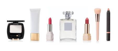 Cosmetic and beauty products on a white background Standard-Bild