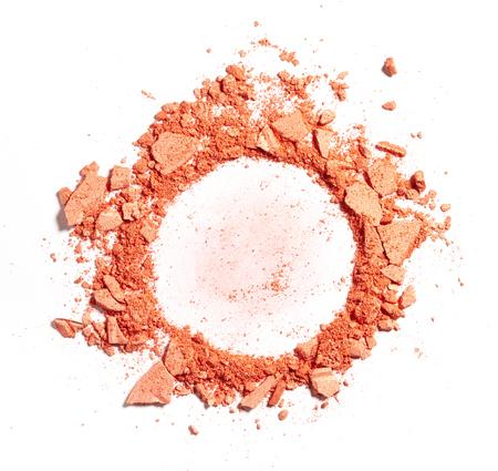 Make up crushed powder on white background Stock Photo