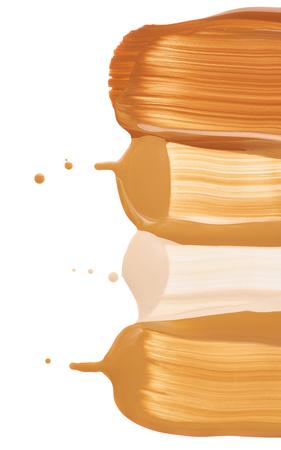 makeup liquid foundation on white background Stock Photo