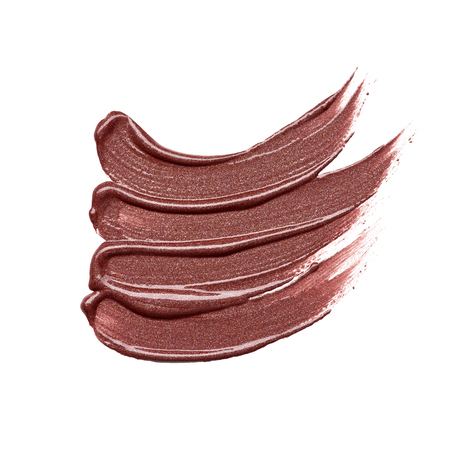 brushstroke: smear paint of cosmetic products on a white background