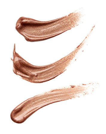 beaming: smear paint of cosmetic products on a white background