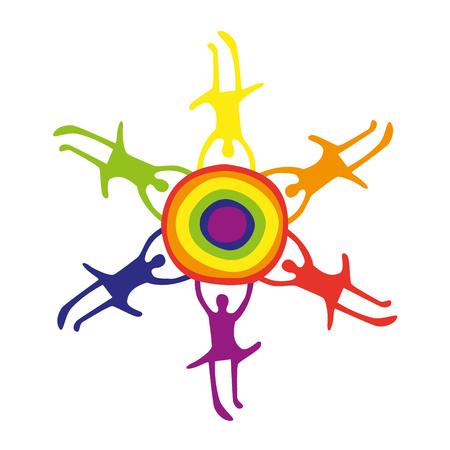 vector logo van homo-gemeenschap