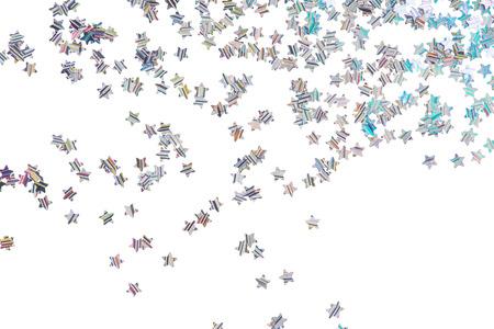 Bright and original stars background of multicolored neon stars