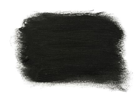 Black pencil strokes on white paper texture directly above shot Imagens
