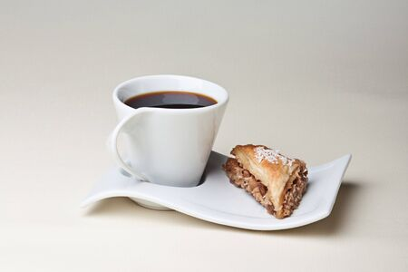 piece of cake with Turkish coffee photo