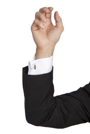 cuff buckle: hand