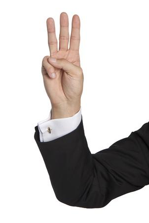 cuff buckle: three fingers