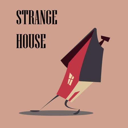Strange house.Vector illustration.
