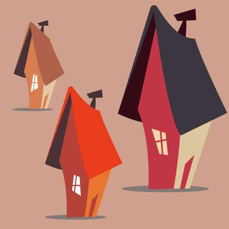 Conjunto de casas Ilustración vectorial Foto de archivo - 97634649