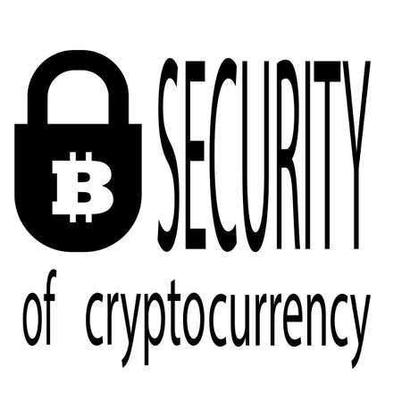 Security of cryptocurrency icon.Vector illustration. Illusztráció