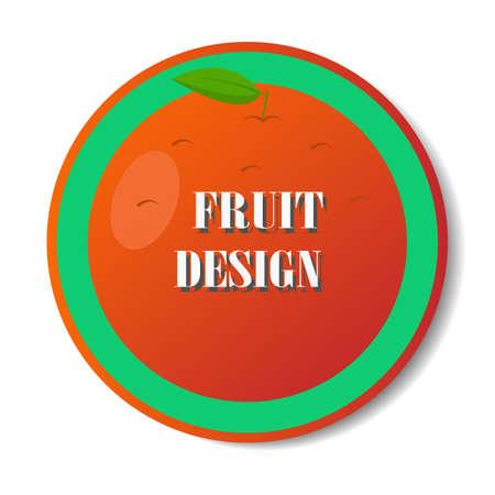 Fruit design icon.Orange vector illustration for web. Imagens - 100735651