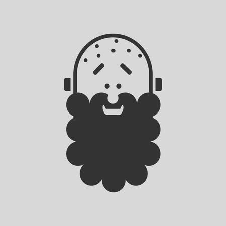 Hipster man logo.Vector illustration for web. Ilustração