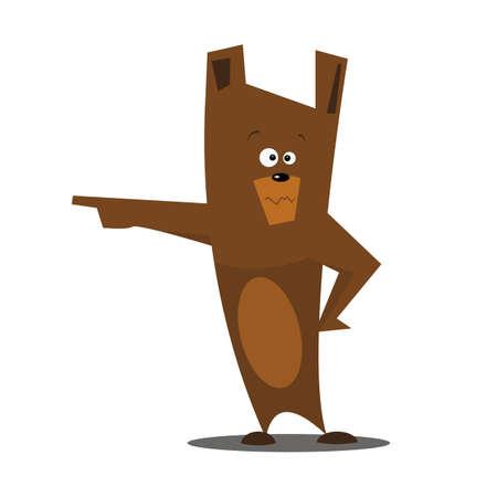 Cartoon bear.Vector illustration.Flat design.
