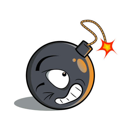 Cartoon Bomb vector illustration for web design.