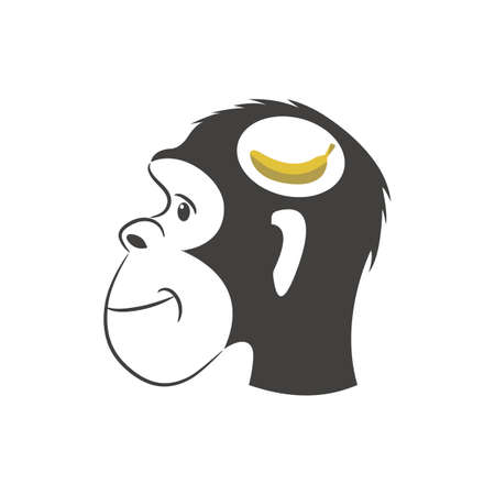 Monkey Logo template Vector illustration