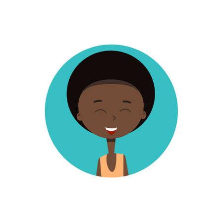 Afro boy avatar.Vector illustration for web design. Ilustração