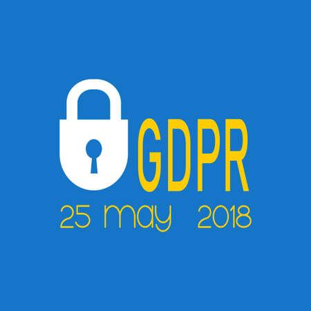 General Data Protection Regulation.Icon vector illustration. Ilustração