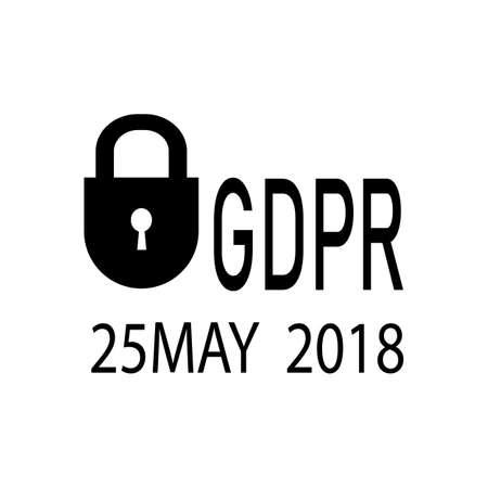 General Data Protection Regulation.Icon vector illustration Imagens - 101726779