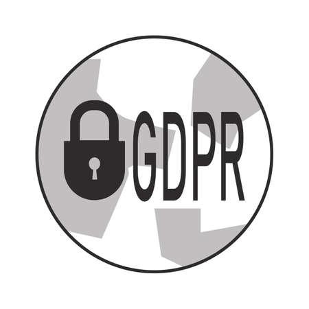 General Data Protection Regulation.Icon vector illustration