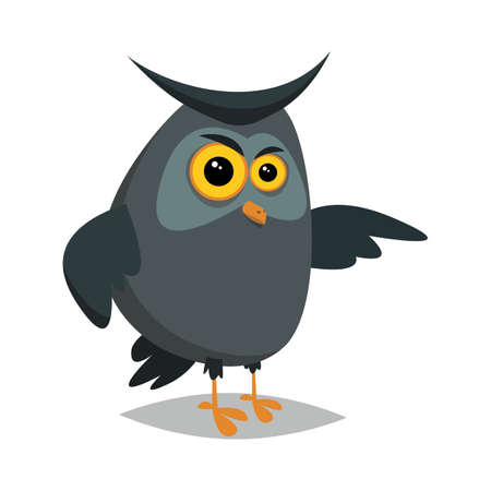 Angry owl.Vector illustration for web.Flat style. Imagens - 102345242