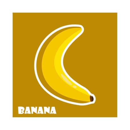 Banana sticker.Vector illustration for web .Cartoon style Imagens - 102305133