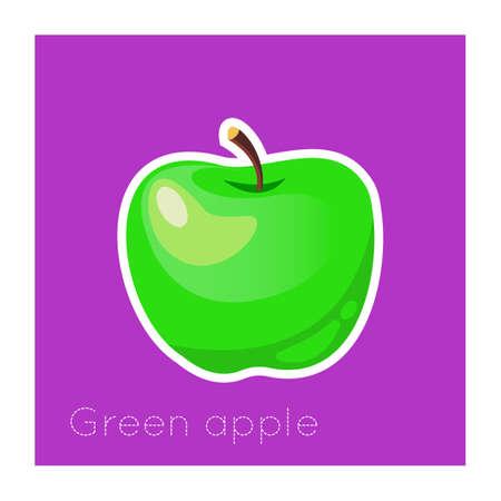 Apple sticker.Vector illustration for print. Imagens - 102330889