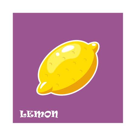 Lemon sticker.Vector illustration for web.