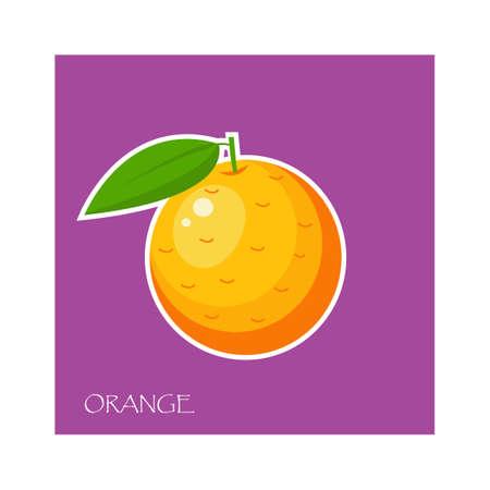 Orange sticker.Vector illustration for web.