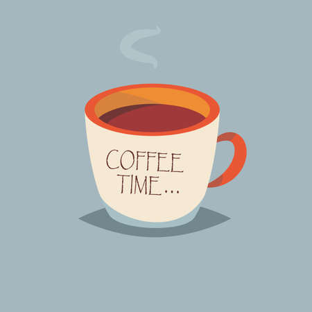 Coffee time.Vector illustration for web.Cartoon style.