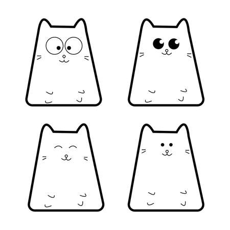 Cats set.Vector illustration for web.Cartoon style.Icon set. Imagens - 102939033