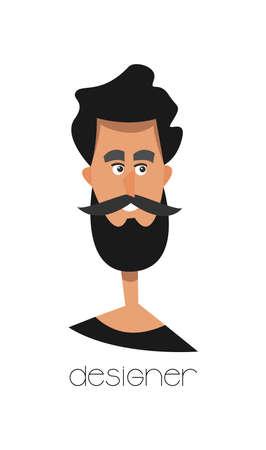 Designer avatar.Vector illustration.